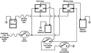 wiring electrical relays into a nitrous system tech article 7 6 notice the fuel safety switch in the diagram