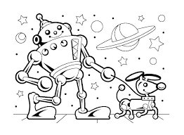 Small Picture robot coloring pages for kids 13 funnycrafts