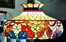 stained glass hanging light fixture stained glass hanging lamp lights shades patterns stained glass hanging lamp