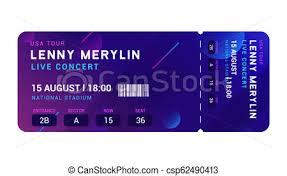 Concert Entrance Vector Ticket Templates Party Event Elegant Flyer Design Show Music Pass Invitation