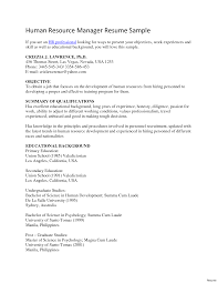 Cover Letter For Resume To Hr Tomyumtumweb Com