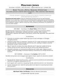 Template Bank Teller Resume Sample Monster Com Template Banking