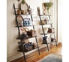 Wooden Ladder Display Stand Custom Mining American Minimalist Style Loft Vintage Wrought Iron Wood