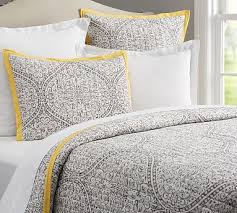 Clarissa Printed Quilt, Full/queen, Gray/yellow... by Pottery Barn ... & Clarissa Printed Quilt, Full/queen, Gray/yellow... by Pottery Barn | Havenly Adamdwight.com