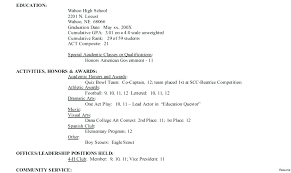 Activity Resume Templates Student Activity Resume Template