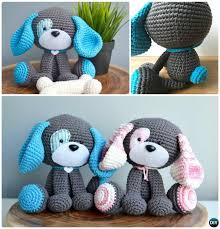 Free Patterns Crochet Classy DIY Crochet Amigurumi Puppy Dog Stuffed Toy Free Patterns