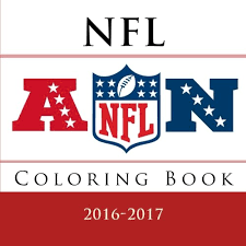nfl coloring book all 32 nfl american football team logos to color excellent childrens birthday gift present idea andy jackson 9781536904765