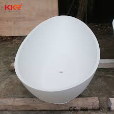 china solid surface cast stone custom size small bathtub for