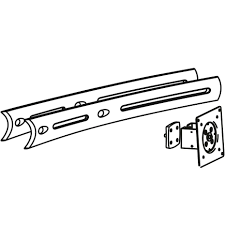 use this ergotron 97 447 200 extender to increase the width of a 28 or 46 crossbar to 55 includes a center display bracket for attaching an lcd in the