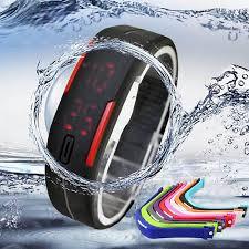 fashion womens mens waterproof digital led sports silicone fashion womens mens waterproof digital led sports silicone bracelet wrist watch