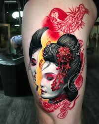 People Tattoo With Girl And Japanese