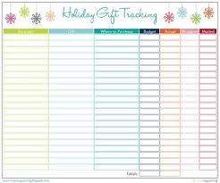 Gift Tracker Iheart Organizing Free Printable Christmas Gift Tracker Holidays