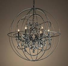 orb twin smoke crystal chandelier matte natural restoration hardware