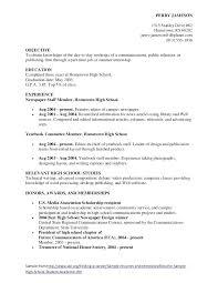 Resume Sample High School Student Resume Letter Directory