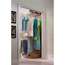 ez shelf 12 ft steel closet organizer kit with 2 expandable shelf and rod