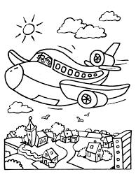 Kleurplaat Vliegtuig Vliegt Kleurplatennl