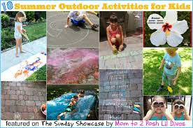 outdoor activities for kids. 10 Outdoor Summer Activities For Kids {The Sunday Showcase 6/14/14}