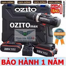 Máy khoan pin OZITO 28V Máy khoan pin có búa Máy khoan cầm tay máy bắt vít  dùng pin - 1 PIN