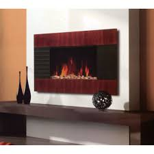 attracting wall mounted fireplace ideas by brown black fireplace frame on the white wall combined with