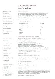 Sample Catering Resume Plain Ideas Kitchen Manager Resume Catering