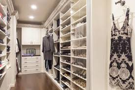 traditional acanthus wood walk in closet