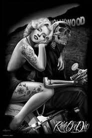 image is loading marilyn monroe hollywood homegirl art poster 24x36 bike  on marilyn monroe tattoo wall art with marilyn monroe hollywood homegirl art poster 24x36 bike tattoo