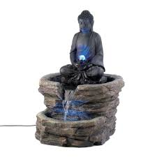 lighted water fountain outdoor decor solar small garden fountains with lights lawn