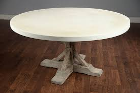 unique round 60 concrete and elm dining table me gardens of with regard to likeable round