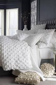 white bed sheet texture. Add Texture To An Otherwise Plain White Bed With Ruffled Pillowcases And A Puckered Duvet. Sheet