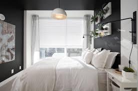 Brightening Dark Interiors Light Bedding Master Bedroom