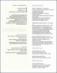 Two Column Resume Template Word Unique Two Column Resume Templates