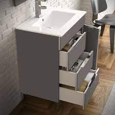 Eviva Geminis 28 Grey Modern Bathroom Vanity With White Integrated Porcelain Sink Bathroom Vanities Modern Vanities Wholesale Vanities
