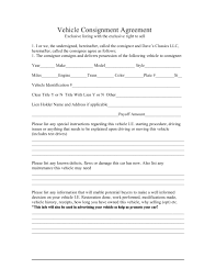 consignment form for cars 15 consignment agreement examples pdf doc