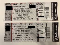 Amway Center Seating Chart Justin Timberlake Justin Timberlake Tickets 5 14 Amway Center Press Section