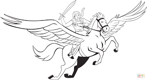 Creative Idea Cute Pegasus Coloring Pages For Kids Cosmic Another