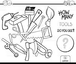 Counting Tools Coloring Page Activity stock vector art 824106156 ...