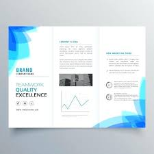 Brochure Template Design With Abstract Blue Shapes Free