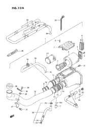 1990 suzuki quadrunner lt f250 oem parts babbitts suzuki partshouse air cleaner model m n p r s t