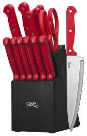 Red Kitchen Accessories Amazoncom Ginsu Essential Series 14 Piece Stainless Steel