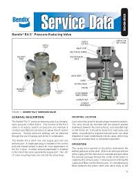 Bendix Commercial Vehicle Systems RV-3 PRESSURE REDUCING VALVE 3 ...