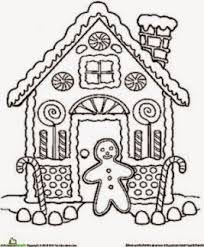 Small Picture Gingerbread House Coloring Sheet Free Coloring Sheet