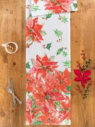 Poinsettia Designs Poinsettia Table Runner