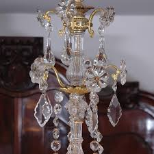 fifteen light neoclassical cut glass and crystal chandelier