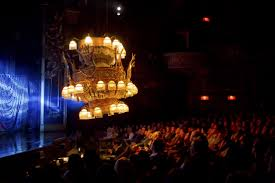 the famed chandelier in the al the phantom of the opera moves