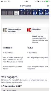Zed Fare Chart 2017 Air France Upgrade To Business Class At Check In Flyertalk