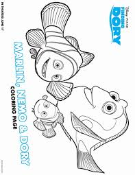 Small Picture Finding Dory Coloring Pages