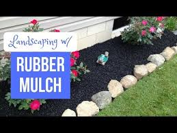 rubber mulch review. Wonderful Mulch Landscaping With Rubber Mulch On Review B