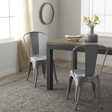 Tabouret Bistro Steel Dining Chairs Set of 2 Free Shipping