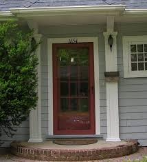 front storm doorsFront Door with Coordinated Storm Door  Traditional  Entry
