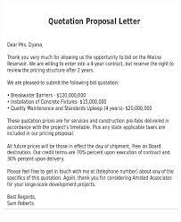 Construction Proposal Letter Quotation Proposal Samples Sample Templates Construction Quote Template